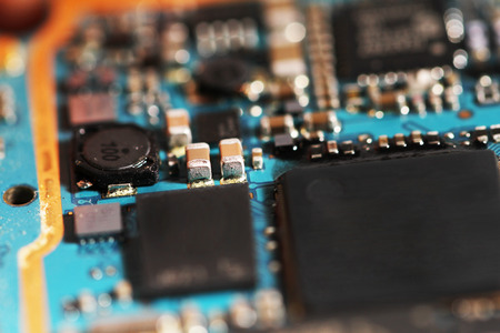 capacitance: A piece of circuit board
