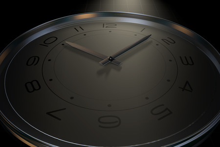 time of day: A clock that represents the passage of time