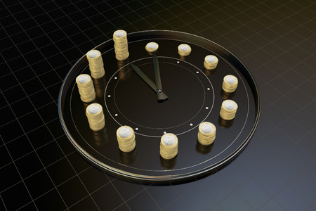 job deadline: Time and money, represents the precious time Stock Photo