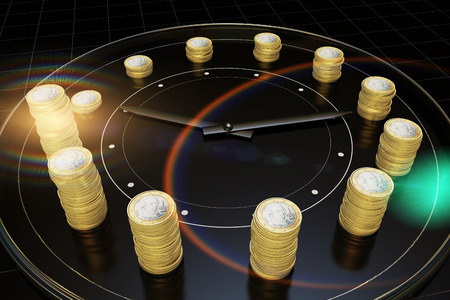represents: Time and money, represents the precious time Stock Photo