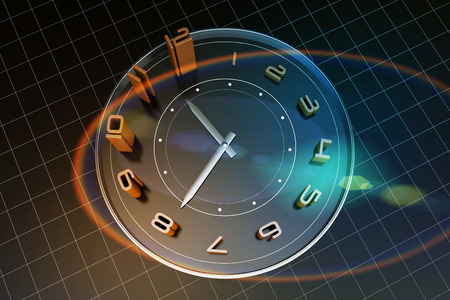 accomplishments: A clock, representing the passage of time, the importance of time Stock Photo