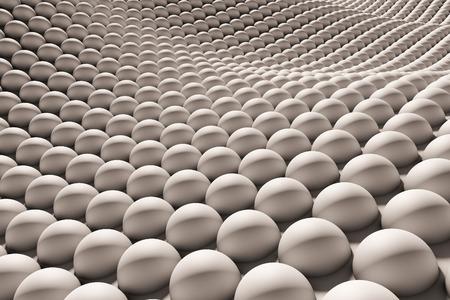 dense: Close up to arrangement of dense balls Stock Photo