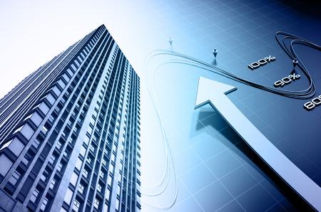 crecimiento: El significado de esta imagen es el rápido crecimiento de la industria de bienes raíces