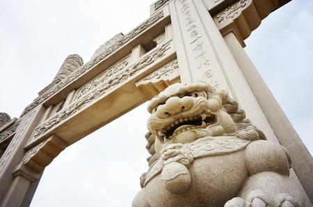 godlike:  lions stone Stock Photo
