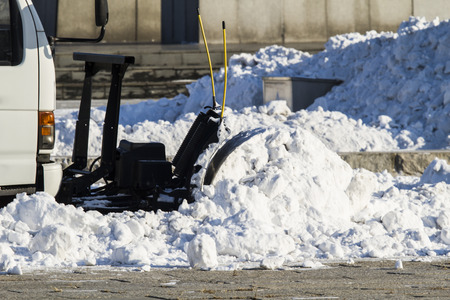 blowers: Outdoor snow blowers Stock Photo