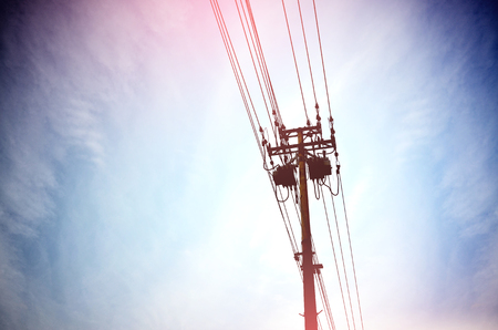 Outdoor high voltage wire Stock Photo