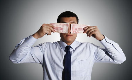 confound: Chinese business people, money blocking the eyes