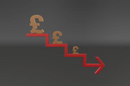 depreciation: Currency symbols and arrows