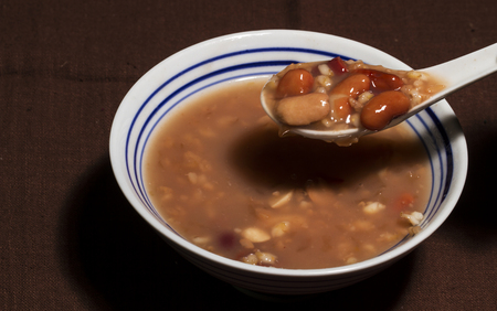 Mixed Congee- Chinese traditional food Standard-Bild