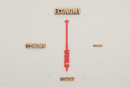 accumulation: Time and wealth, the accumulation of the economy Stock Photo