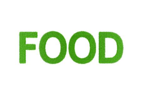 english food: Beautiful green English FOOD word