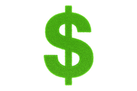 currency symbol: Green currency symbol Stock Photo