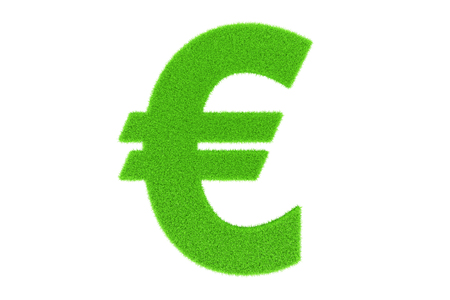 currency symbol: Green currency symbol, euro