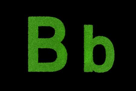 bb: Green capital letters, Bb