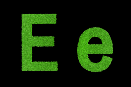 Grüne Buchstaben, Ee Lizenzfreie Bilder