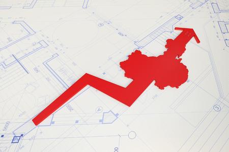 Der Pfeil und die Karte von China