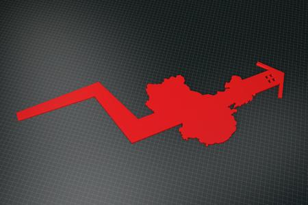 China Karte und Pfeil Lizenzfreie Bilder