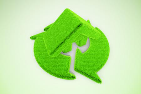 Grüne Erholung Pfeil und kleine Zimmer Lizenzfreie Bilder