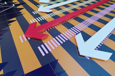 Successful arrows and data statistics Lizenzfreie Bilder