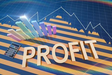 Financial investment and histogram Lizenzfreie Bilder