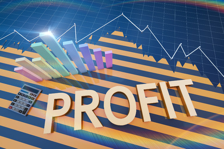 Financial investment and histogram Standard-Bild