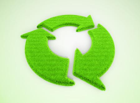 Green recovery arrow Standard-Bild