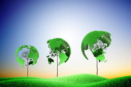 Three green earth