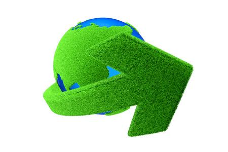 Green arrow and the earth Standard-Bild