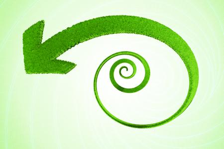 Green spiral arrow