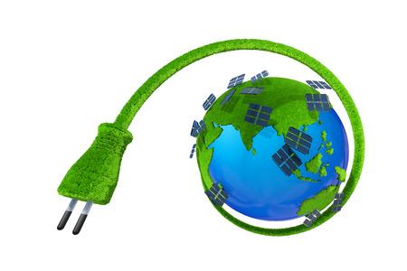 Global energy saving, solar energy Standard-Bild