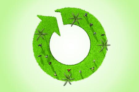 Green arrow around