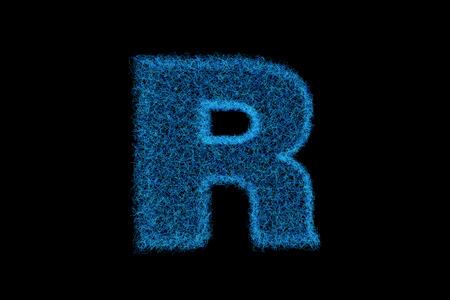 coincidence: An English alphabet, blue technology line box Stock Photo