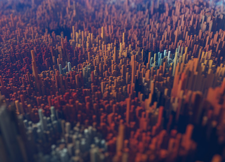 Art styles of polygonal shapes, mountains and valleys