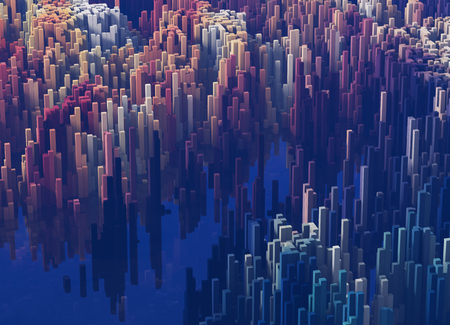 Kunststile von polygonale Formen, Berge und Täler Lizenzfreie Bilder