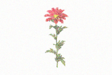 illustrated spring Chrysanthemum Lizenzfreie Bilder