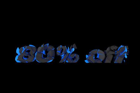 drawback: Broken creative 3D text, discount