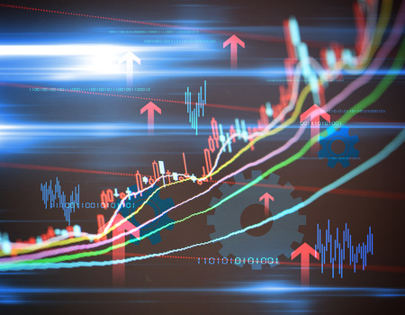 financial graph: Stock market data financial