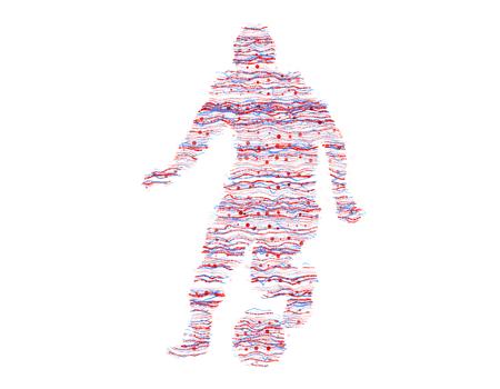 figuras abstractas: Líneas de color que consiste en atletas, figuras abstractas Foto de archivo