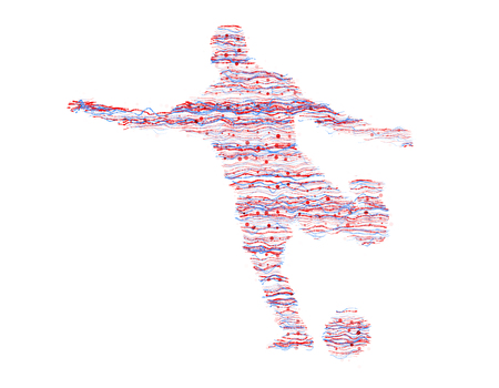 figuras abstractas: Color lines consisting of athletes, abstract figures