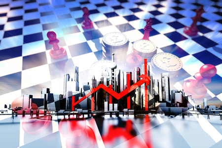 chieftain: Economic city and the success of the arrow, the chess, the pound symbol