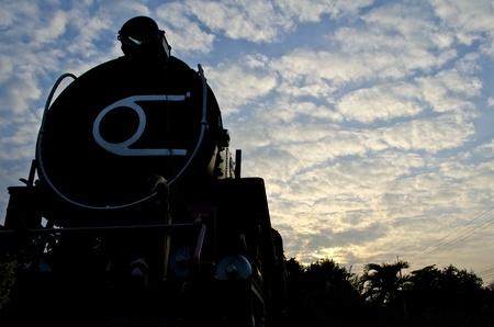 Steam Train in Thailand. photo