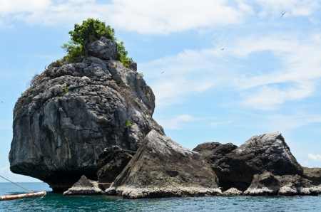 A small island in the sea of Chumphon province, Thailand