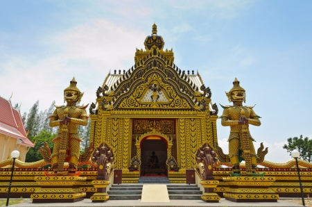 Chapel of the Thai temple, Unusual in Hua Hin, Thailand photo