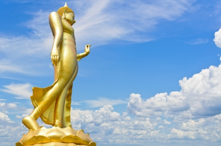 Buddha statue with a bright sky background Stock Photo - 14413235