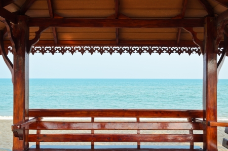 Public pavilion  Relax at the seaside  Thailand Stock Photo - 15451557