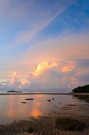 Beautiful colors at sunset on the beach  Thailand Stock Photo - 15447652