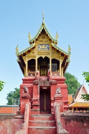 Shrine worship at Wat Phra That Hariphunchai temple in Lamphun Province Thailand Stock Photo - 18517496