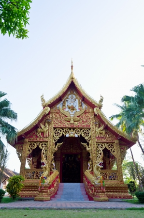 Chapel of Wat Phra That Lampang Luang temple, Lampang province in northern Thailand Stock Photo
