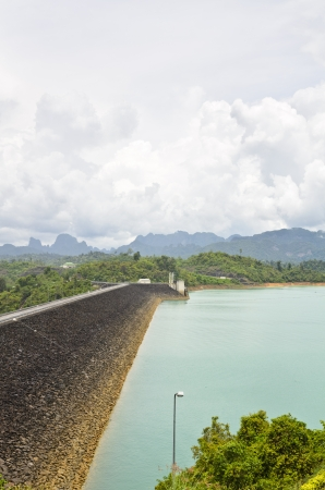 Viewpoint at Ratchaprapha Dam, Khao Sok National Park, Surat Thani Province, Thailand Stock Photo - 21698824