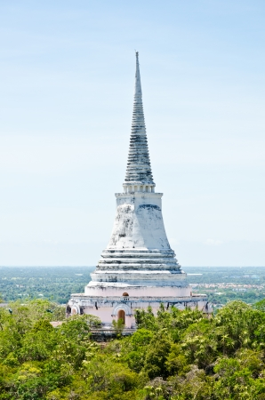Pagoda on the mountain in Phra Nakhon Khiri temple, archaeological site of Phetchaburi Province, Thailand photo